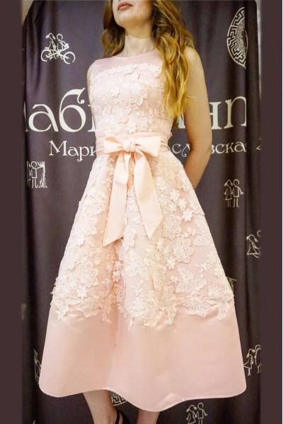 Платье Вечерний звон (шитье розовый)