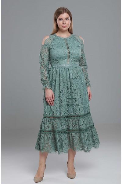 Платье Вера PS из фактурной кружевной ткани