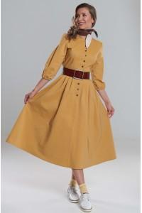 Платье Вероника (Желтое/ Красная шапочка с хвостом)