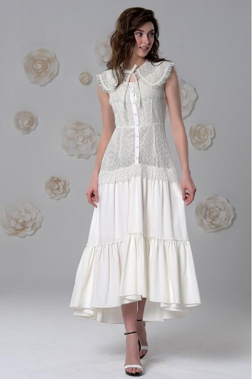 Платье Виталина (Чёрное, Белое)