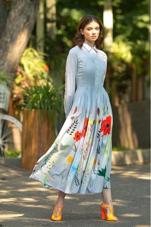 Платье Власта (Цветы) из нежной тонкой вискозы