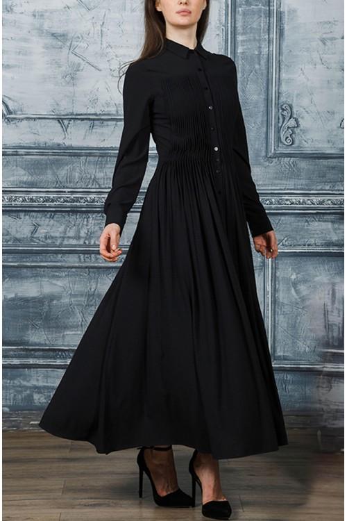 Платье Власта (темно-синий, черный)