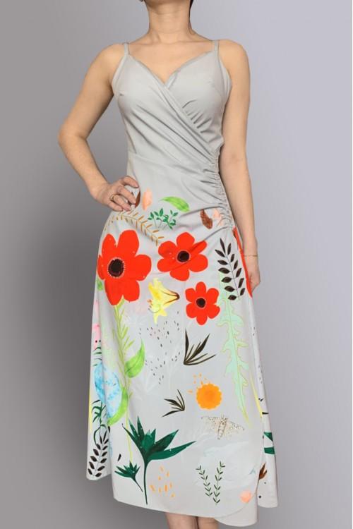 Платье Яна из нежной вискозы c принтом