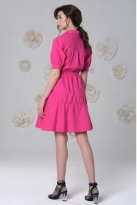 Платье Заря из мерсеризованного хлопка цвета фуксии