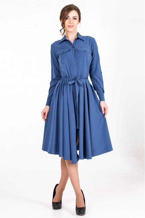 Платье Новое Сафари (синий)