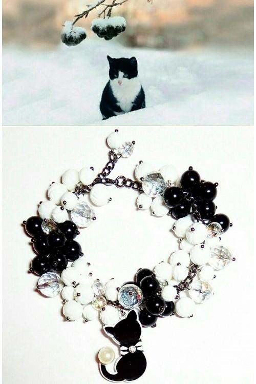 Браслет Рябина черноплодная в снегу