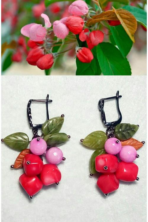 Серьги Цветущая яблоня