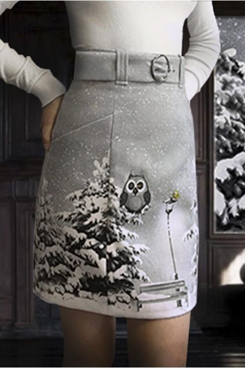 Юбка Кети 2 ( Зимняя сова)