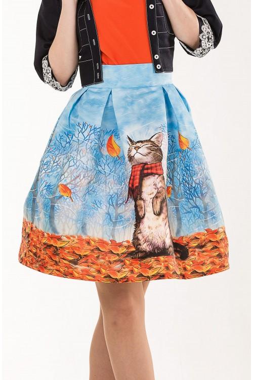 Юбка Королек (Осенний кот)