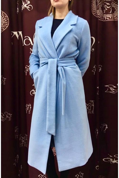 Пальто Роза (голубой)