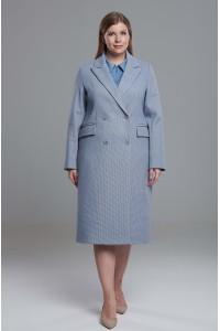 Пальто Веста (голубое/бежевое) PS