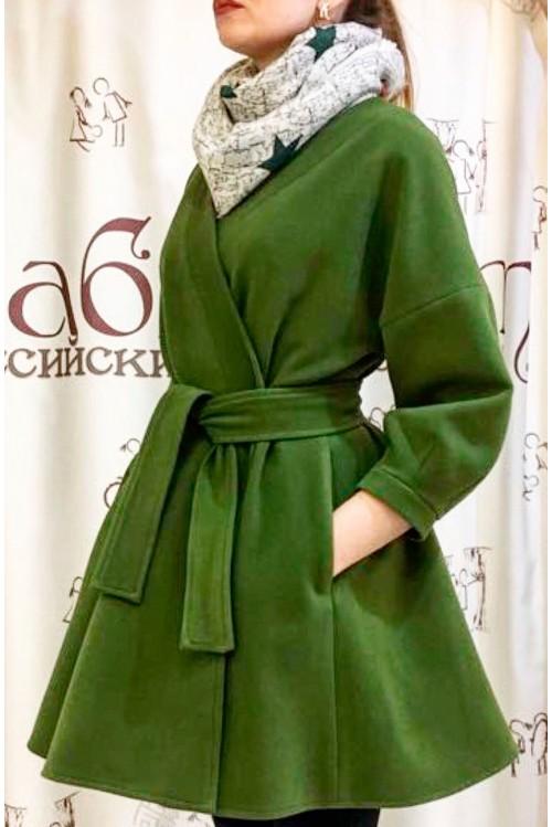 Пальто Адель (зеленый)