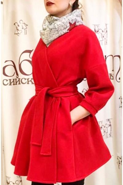 Пальто Адель (красный)