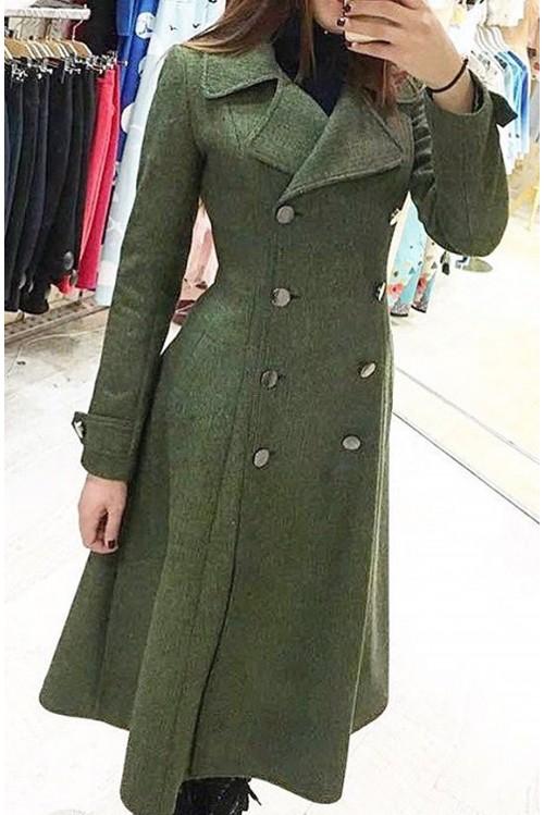 Пальто Бабетта (серый, зеленый)