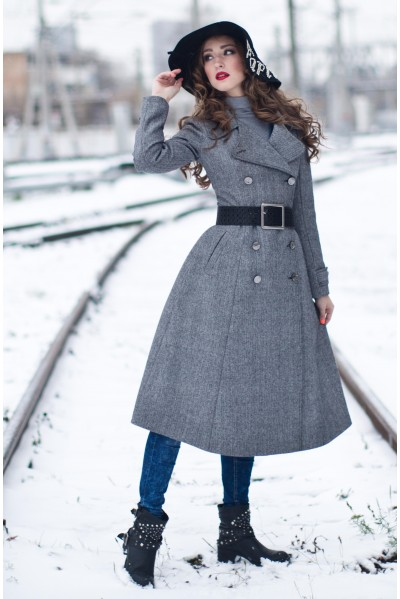 Пальто Бабетта (серый)