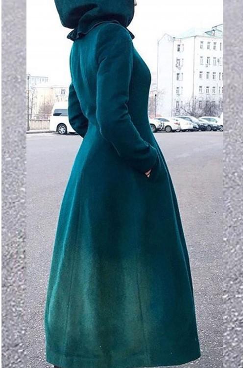 Пальто Кристина (зеленый)
