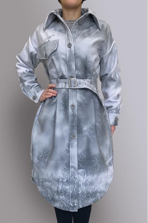 Пальто-рубашка (Наивные птички/Лошади в тумане)