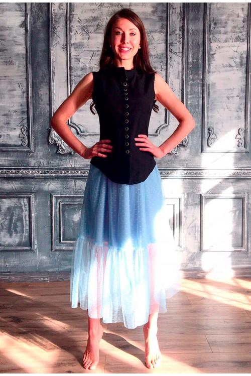 Юбка Анжелика (Голубой)