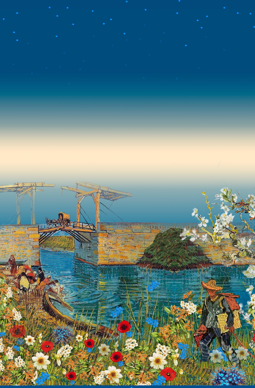 Принт Ван Гог у реки