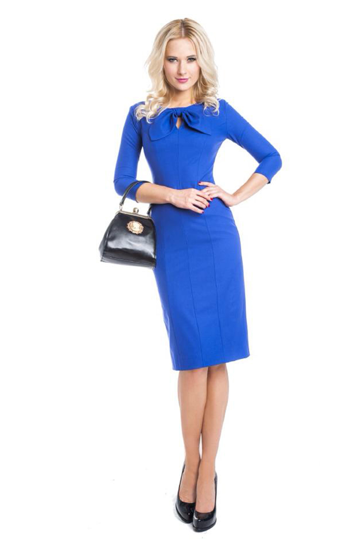Купить Платья, Платье Амели (синее), Лабиринт «Мария Браславская»