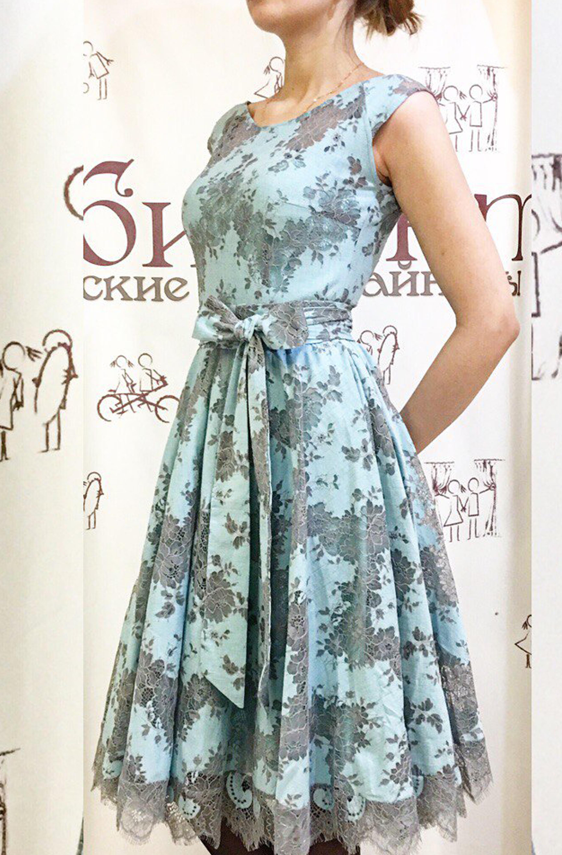 Платье Марианна (голубой)