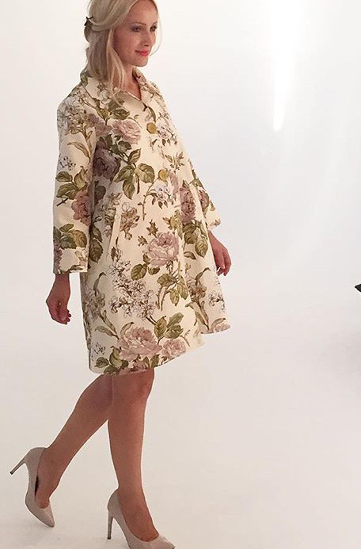 Купить Верхняя одежда, Плащ Мария (Цветы), Лабиринт «Мария Браславская»